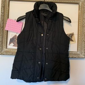 New York & Company Black Quilted Puffer Vest
